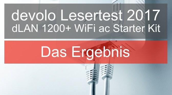 devolo Lesertest 2017 - Das Ergebnis zum dLAN 1200+ WiFi ac Starter Kit