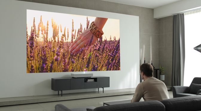 Vorhang auf für den neuen LG CineBeam Laser 4k Ultrakurzdistanz-Projektor