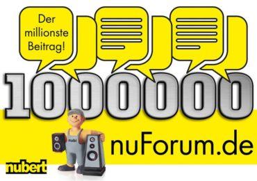 Eine Million Beiträge im nuForum